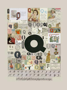Peter Blake The Letter Q, 2007 Silkscreen, embossing and glaze on Somerset satin 300gsm Signed and numbered 52 x 37.5 cm Edition of 60