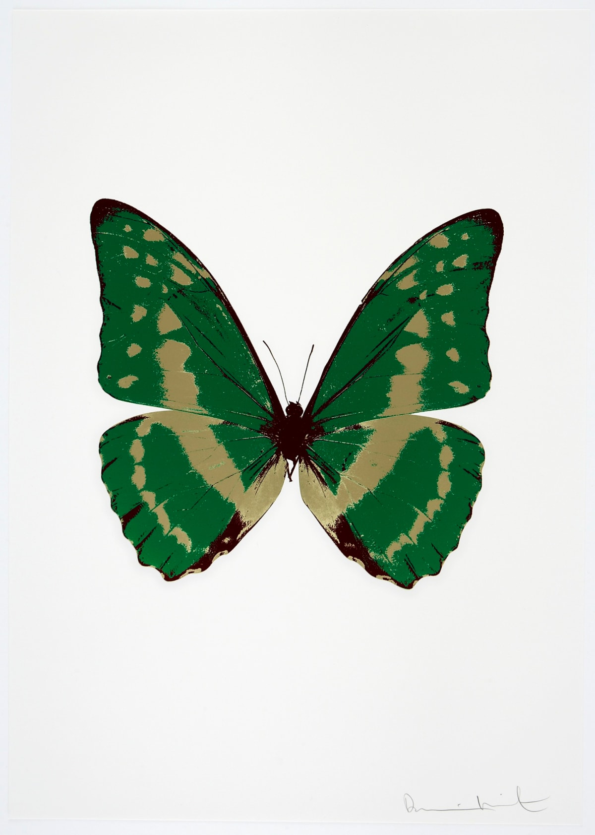 Damien Hirst The Souls III - Emerald Green/Cool Gold/Burgundy, 2010 3 colour foil block on 300gsm Arches 88 archival paper. Signed and numbered. Published by Paul Stolper and Other Criteria 72 x 51cm OC7969 / 660-72 Edition of 15