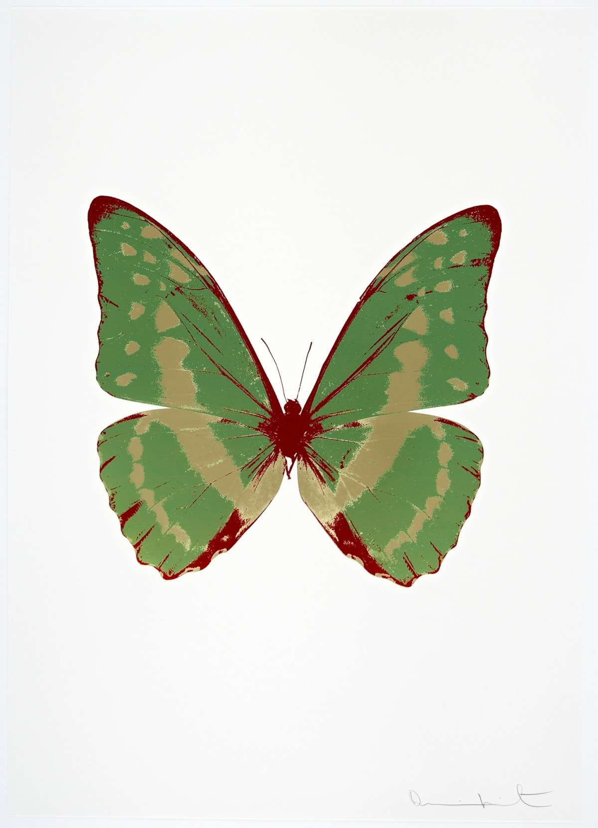 Damien Hirst The Souls III - Leaf Green/Cool Gold/Chilli Red, 2010 3 colour foil block on 300gsm Arches 88 archival paper. Signed and numbered. Published by Paul Stolper and Other Criteria 72 x 51cm OC7946 / 660-49 Edition of 15