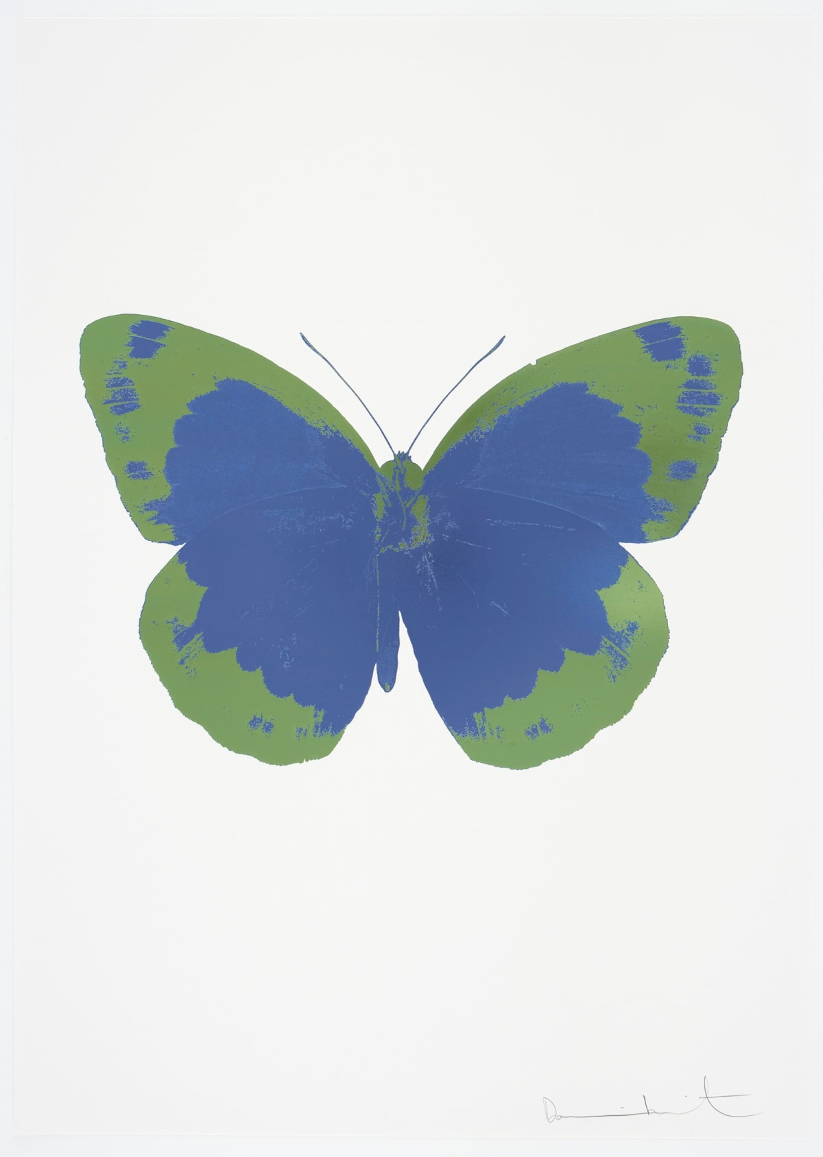 Damien Hirst The Souls II - Frost Blue/Leaf Green/Blind Impression, 2010 2 colour foil block on 300gsm Arches 88 archival paper. Signed and numbered. Published by Paul Stolper and Other Criteria 72 x 51cm OC7845 / 658-28 Edition of 15
