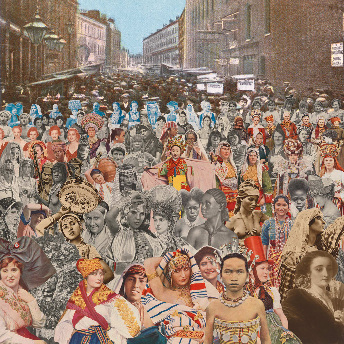 Peter Blake London- Petticoat Lane- One Hundred Women, 2012 Silkscreen print on 410gsm Somerset Tub Sized Signed and numbered by artist. 66.6. x 65.2 cm Edition of 100
