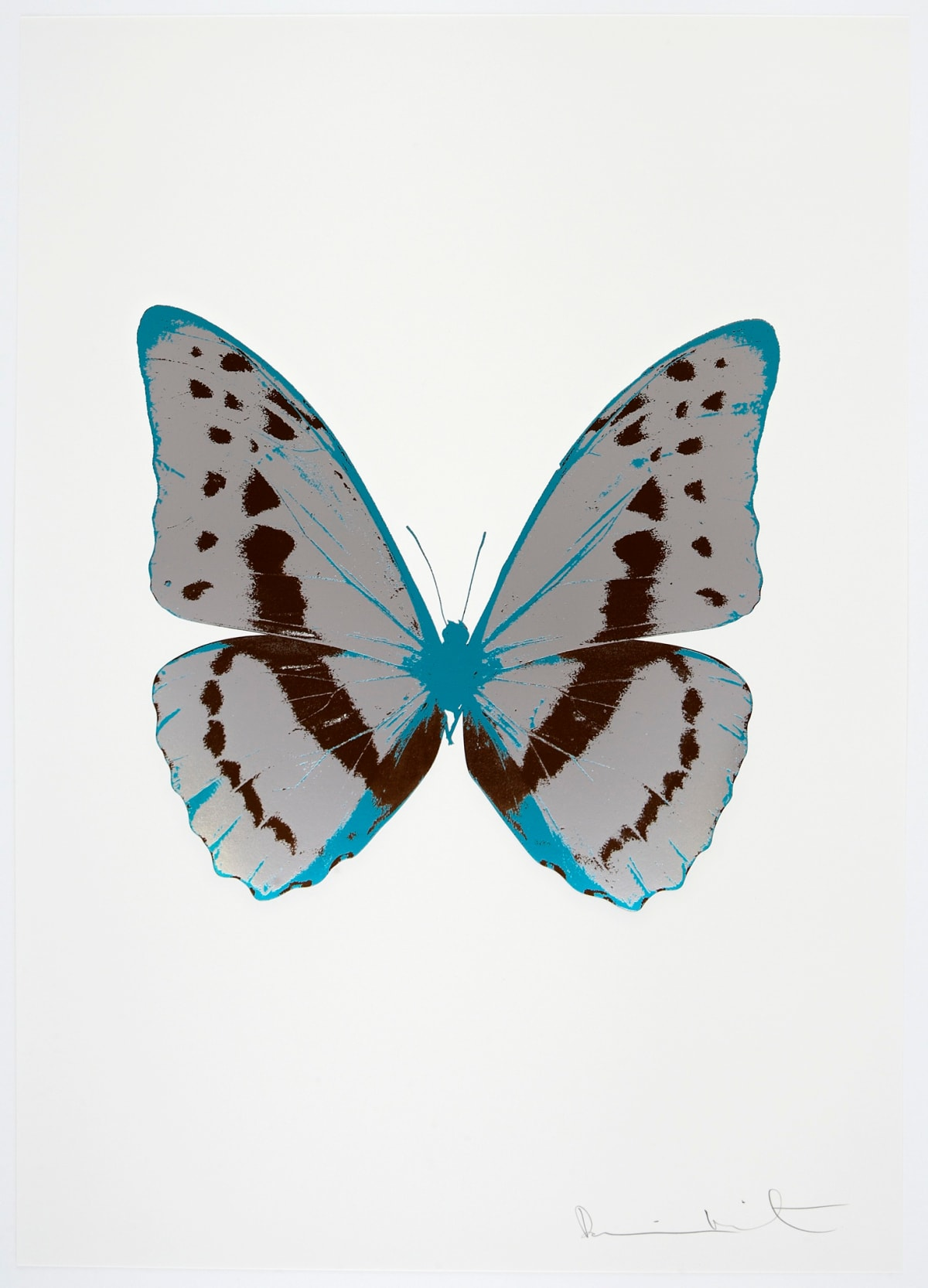 Damien Hirst The Souls III - Silver Gloss/Chocolate/Topaz, 2010 3 colour foil block on 300gsm Arches 88 archival paper. Signed and numbered. Published by Paul Stolper and Other Criteria 72 x 51cm OC7974 / 660-77 Edition of 15