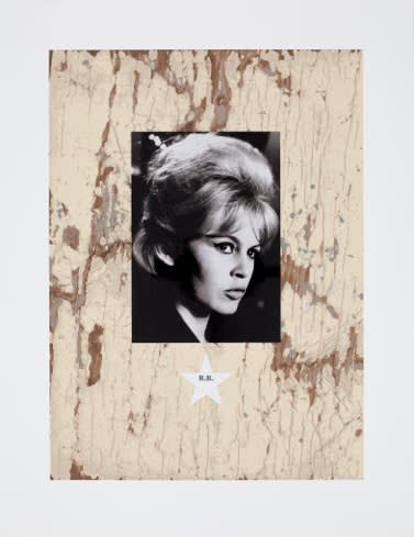 Peter Blake B.B., 2010 Silkscreen with photo collage and Diamond Dust. Signed and numbered by the artist. 75 cm x 58 cm Edition of 100