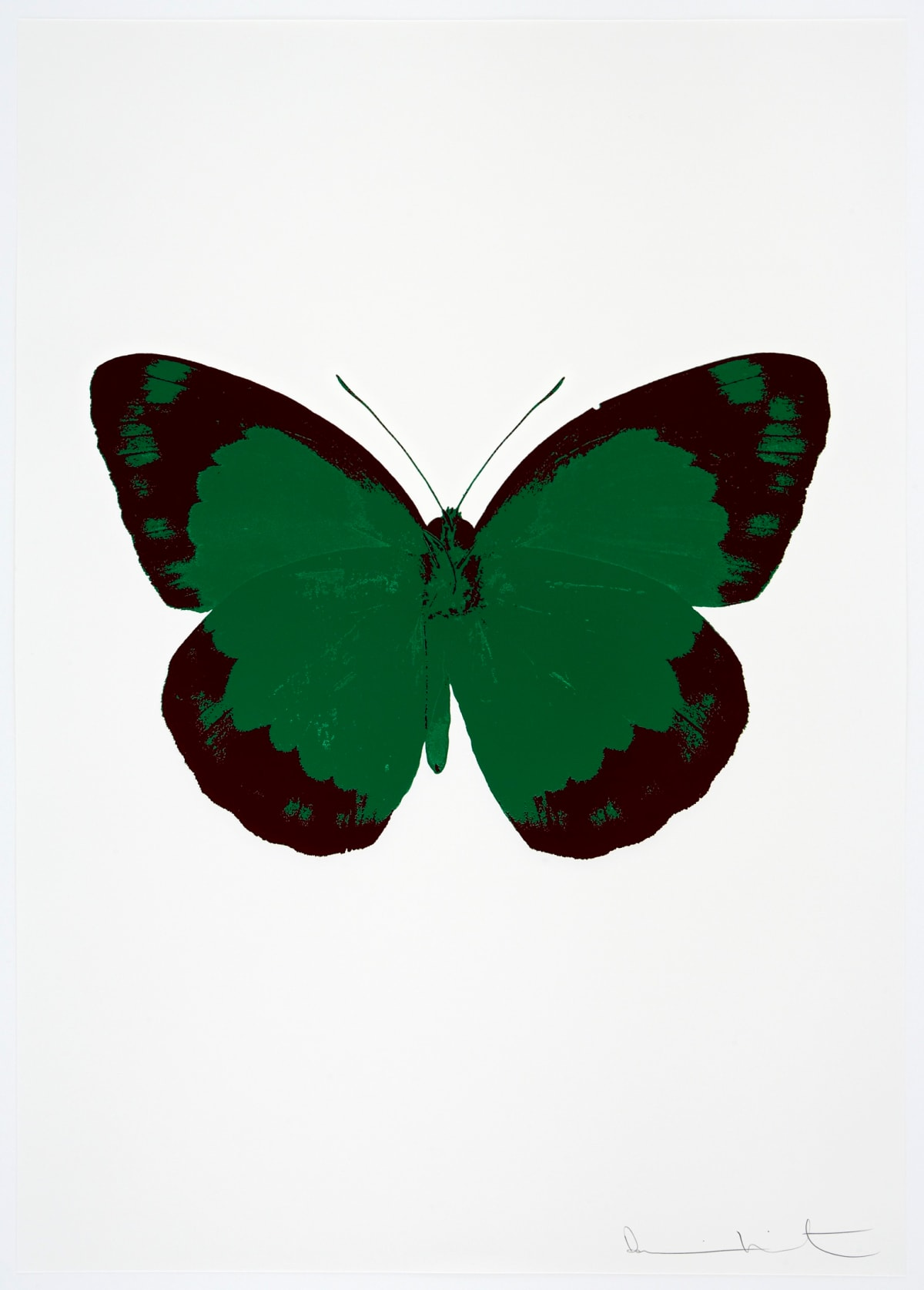 Damien Hirst The Souls II - Emerald Green/Burgundy/Blind Impression, 2010 2 colour foil block on 300gsm Arches 88 archival paper. Signed and numbered. Published by Paul Stolper and Other Criteria 72 x 51cm OC7876 / 658-59 Edition of 15