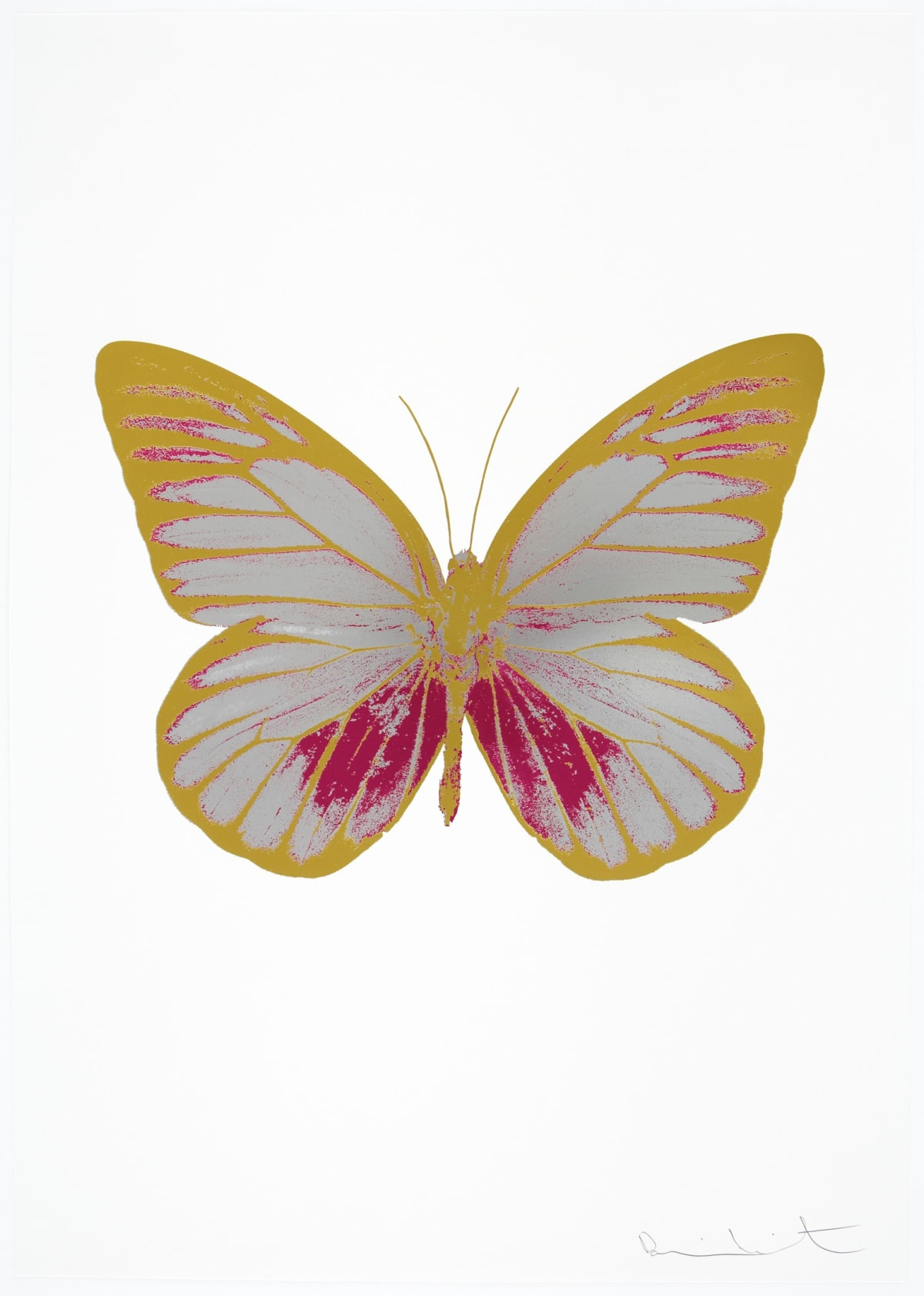 Damien Hirst The Souls I - Silver Gloss/Fuchsia Pink/Oriental Gold, 2010 3 colour foil block on 300gsm Arches 88 archival paper. Signed and numbered. Published by Paul Stolper and Other Criteria 72 x 51cm OC7748 / 659-11 Edition of 15