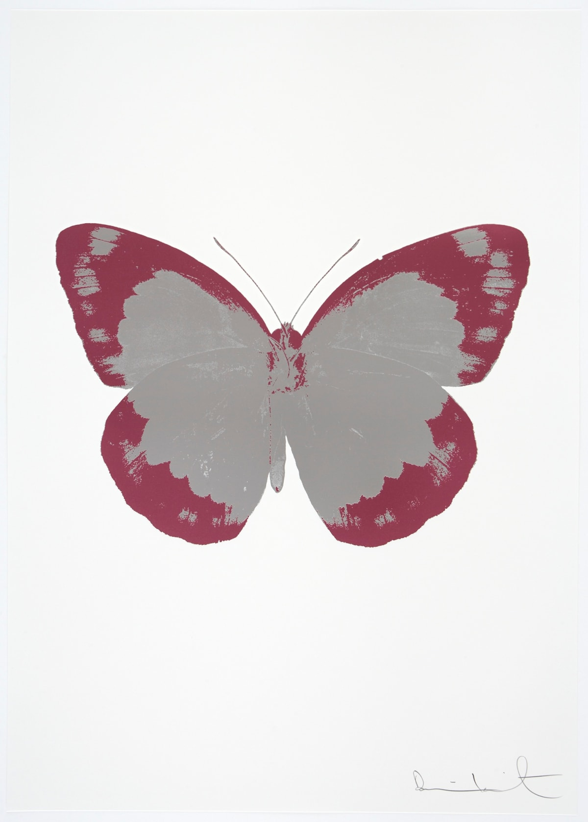 Damien Hirst The Souls II - Silver Gloss/Loganberry Pink/Blind Impression, 2010 2 colour foil block on 300gsm Arches 88 archival paper. Signed and numbered. Published by Paul Stolper and Other Criteria 72 x 51cm OC7843 / 658-26 Edition of 15