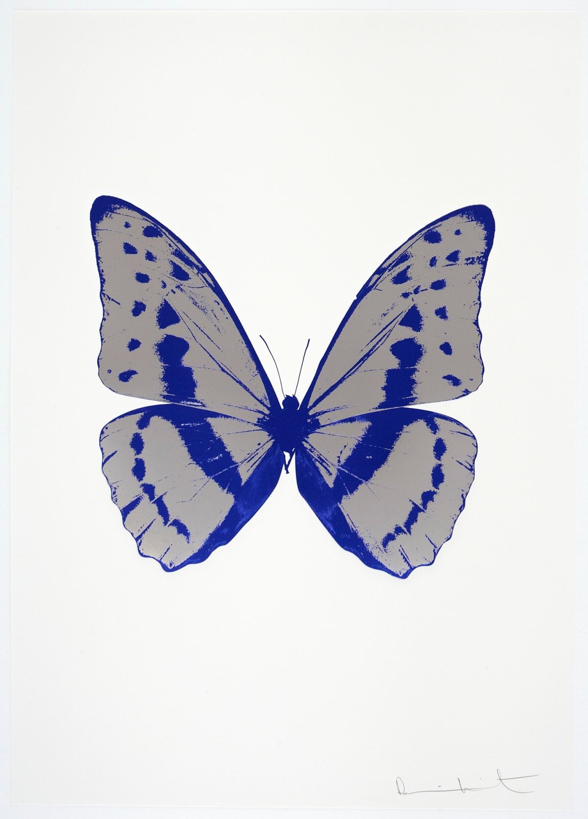 Damien Hirst The Souls III - Silver Gloss/Westminster Blue/Westminster Blue, 2010 3 colour foil block on 300gsm Arches 88 archival paper. Signed and numbered. Published by Paul Stolper and Other Criteria 72 x 51cm OC7975 / 660-78 Edition of 15