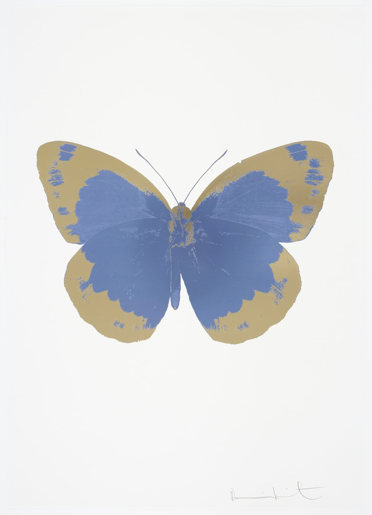 Damien Hirst The Souls II - Cornflower Blue/Cool Gold/Blind Impression, 2010 2 colour foil block on 300gsm Arches 88 archival paper. Signed and numbered. Published by Paul Stolper and Other Criteria 72 x 51cm OC7827 / 658-10 Edition of 15
