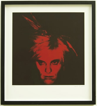 Gavin Turk Fright Wig (Red), 2010 Silkscreen on paper Edition of 100 Signed and numbered by the artist 34 x 31cm 13.4 x 12.2 Edition of 100
