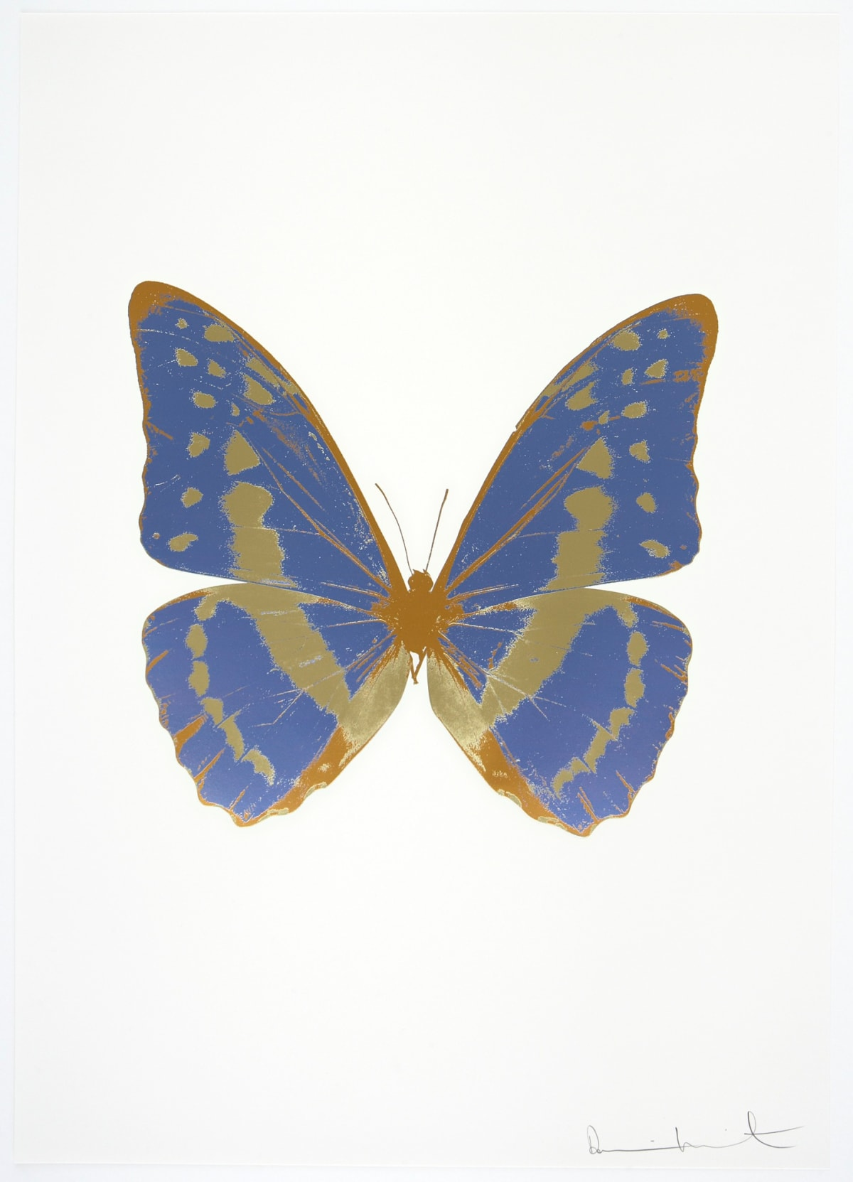 Damien Hirst The Souls III - Cornflower Blue/Cool Gold/European Gold, 2010 3 colour foil block on 300gsm Arches 88 archival paper. Signed and numbered. Published by Paul Stolper and Other Criteria 72 x 51cm OC7952 / 660-55 Edition of 15
