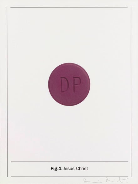 Damien Hirst Fig.1 Jesus Christ, 2005 Silkscreen on Somerset satin 410gsm 66.7 x 50cm Edition of 80 Signed and numbered. Published by Paul Stolper and Other Criteria