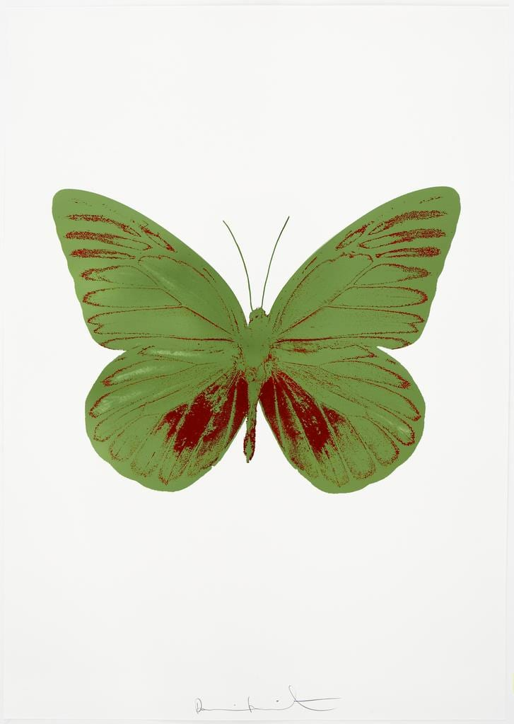 Damien Hirst The Souls I - Leaf Green/Chilli Red, 2010 2 colour foil block on 300gsm Arches 88 archival paper. Signed and numbered. Published by Paul Stolper and Other Criteria 72 x 51cm OC7791 / 659-54 Edition of 15