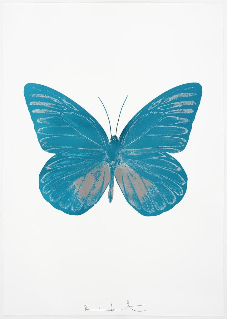 Damien Hirst The Souls I - Topaz/Silver Gloss, 2010 2 colour foil block on 300gsm Arches 88 archival paper. Signed and numbered. Published by Paul Stolper and Other Criteria 72 x 51cm OC7790 / 659-53 Edition of 15