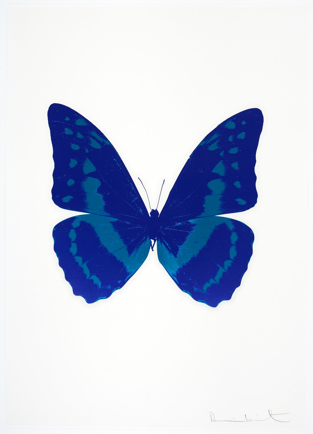 Damien Hirst The Souls III - Westminster Blue/Turquoise, 2010 2 colour foil block on 300gsm Arches 88 archival paper. Signed and numbered. Published by Paul Stolper and Other Criteria 72 x 51cm OC7904 / 660-7 Edition of 15