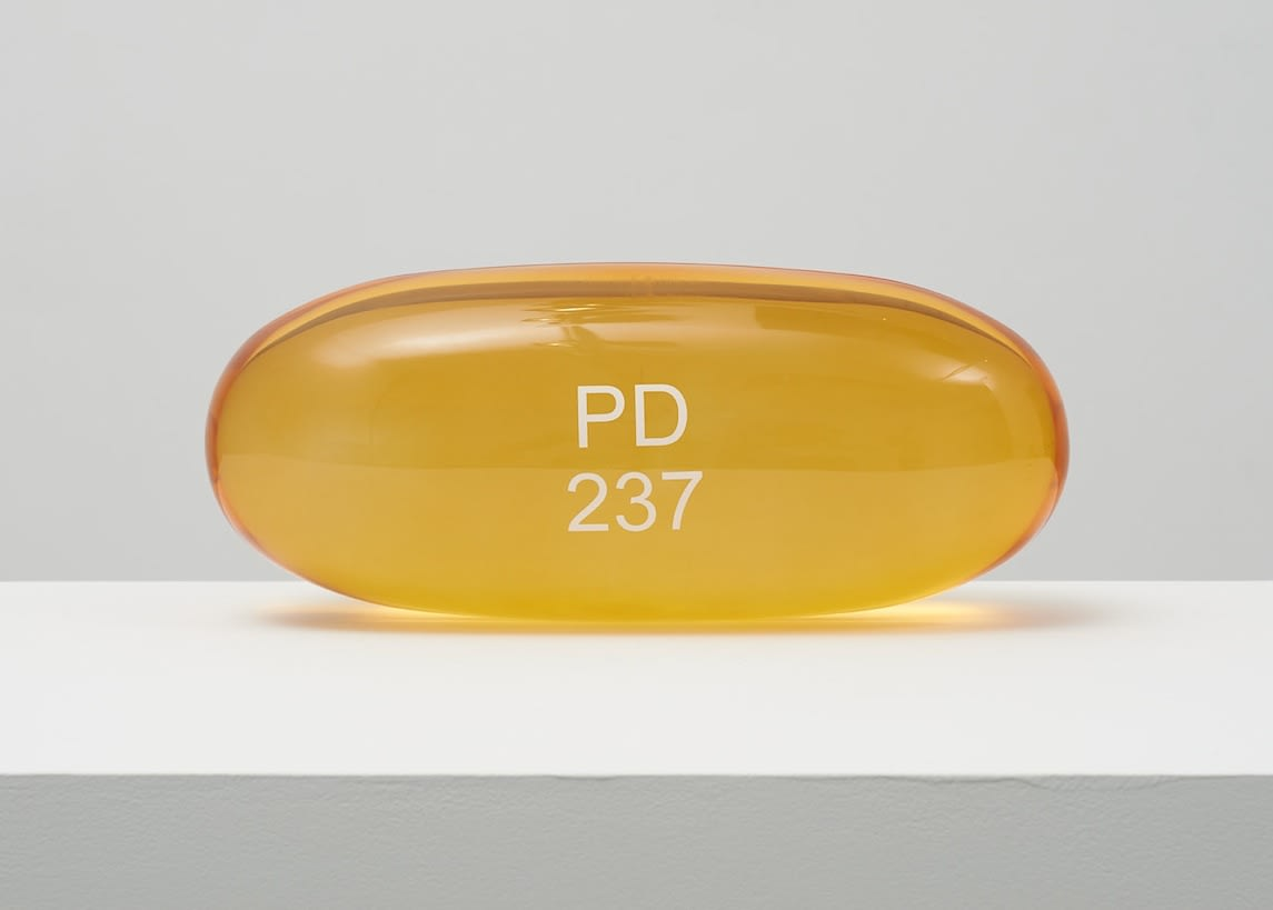 Damien Hirst Zarontin PD 237 Clear polyurethane resin with ink pigment. 2014. Numbered, signed and dated in the cast. Published by Paul Stolper and Other Criteria. OC10049 / DHS18296 L 30cm x diameter 13cm Edition of 30