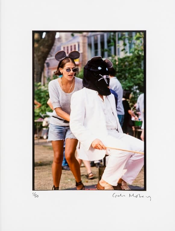 Giles Moberly Tracey Emin and Joshua Compston at the Hanging Picnic (1995), 2013 Digital Print on Hahnemühle Fine Art Baryta. Signed and numbered by the artist. 40 x 30cm Edition of 50