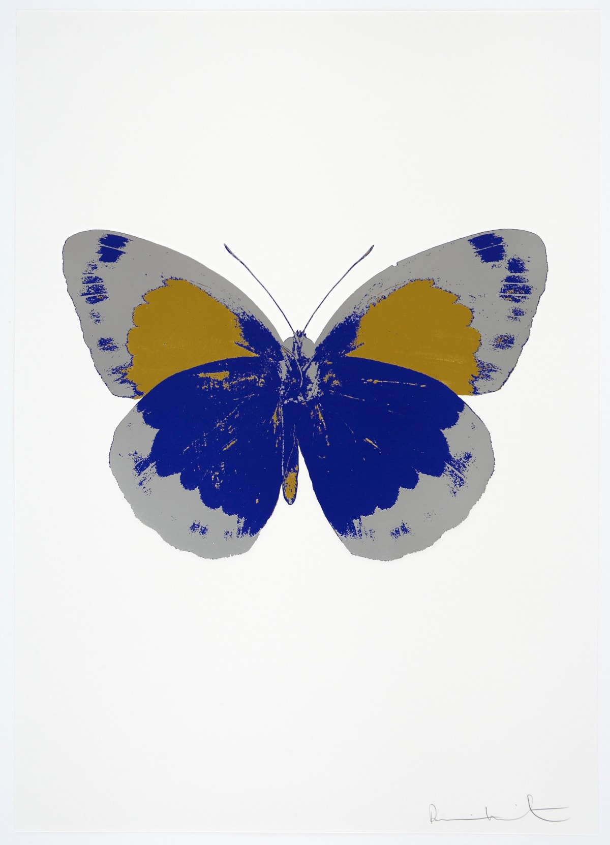 Damien Hirst The Souls II - Westminster Blue/Silver Gloss/Oriental Gold, 2010 3 colour foil block on 300gsm Arches 88 archival paper. Signed and numbered. Published by Paul Stolper and Other Criteria 72 x 51cm OC7862 / 658-45 Edition of 15