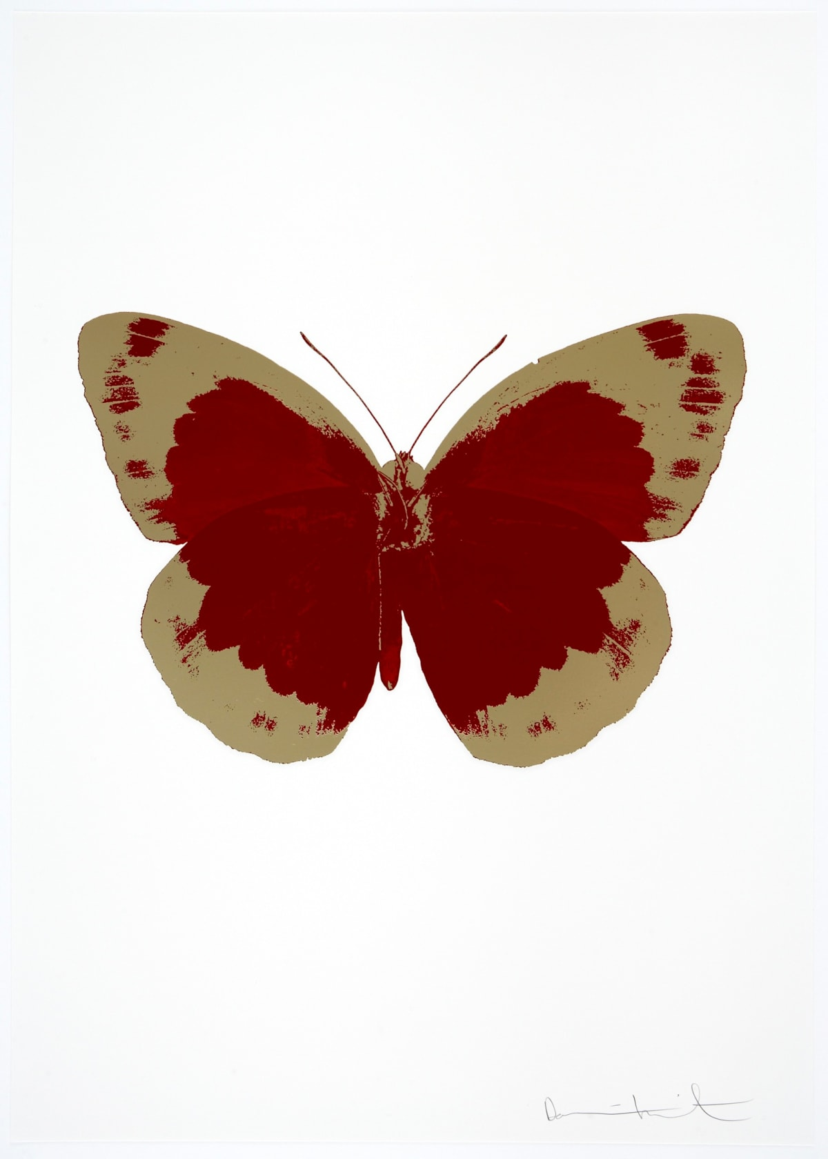 Damien Hirst The Souls II - Chilli Red/Cool Gold/Blind Impression, 2010 2 colour foil block on 300gsm Arches 88 archival paper. Signed and numbered. Published by Paul Stolper and Other Criteria 72 x 51cm OC7829 / 658-12 Edition of 15