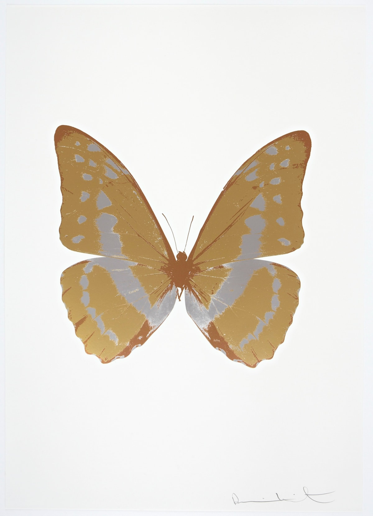 Damien Hirst The Souls III - Hazy Gold/Silver Gloss/Rustic Copper, 2010 3 colour foil block on 300gsm Arches 88 archival paper. Signed and numbered. Published by Paul Stolper and Other Criteria 72 x 51cm OC7910 / 660-13 Edition of 15