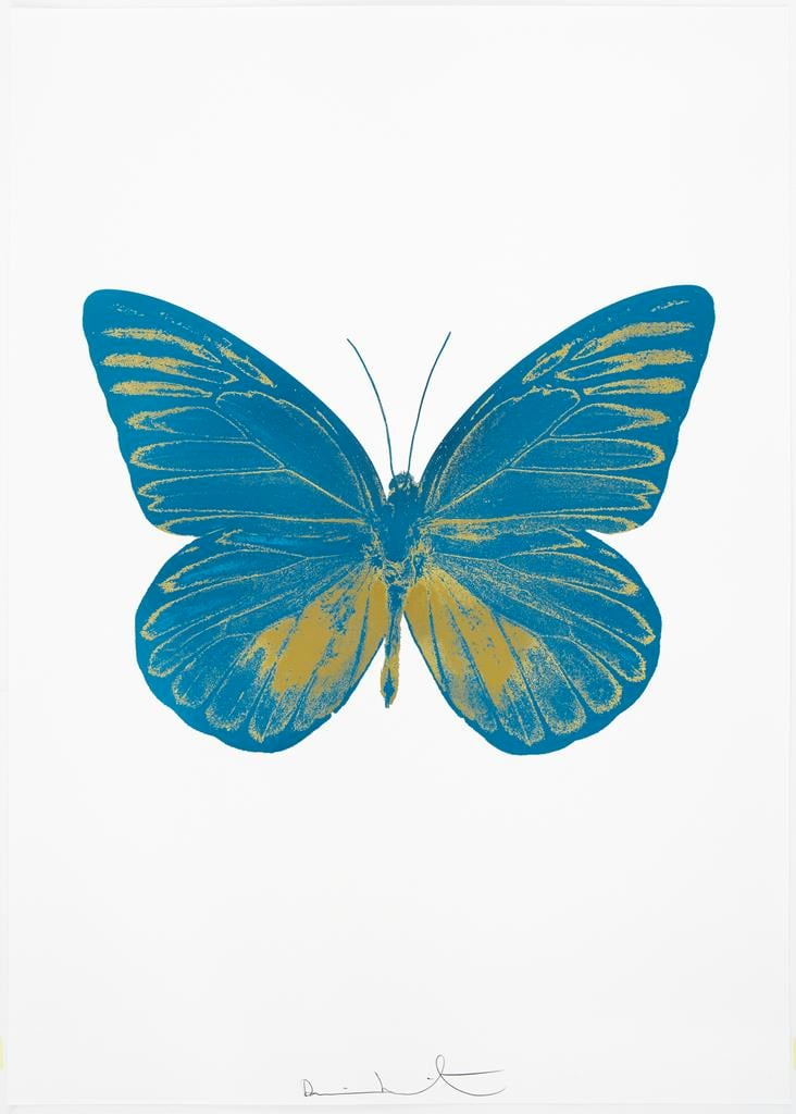 Damien Hirst The Souls I - Topaz/Oriental Gold, 2010 2 colour foil block on 300gsm Arches 88 archival paper. Signed and numbered. Published by Paul Stolper and Other Criteria 72 x 51cm OC7802 / 659-65 Edition of 15