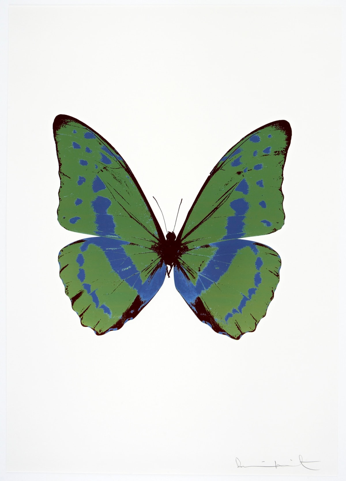 Damien Hirst The Souls III - Leaf Green/Frost Blue/Burgundy, 2010 3 colour foil block on 300gsm Arches 88 archival paper. Signed and numbered. Published by Paul Stolper and Other Criteria 72 x 51cm OC7914 / 660-17 Edition of 15