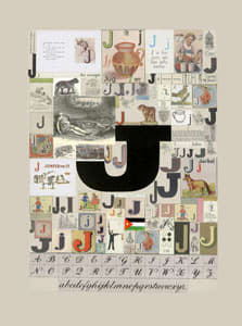 Peter Blake The Letter J, 2007 Silkscreen, embossing and glaze on Somerset satin 300gsm Signed and numbered 52 x 37.5 cm Edition of 60