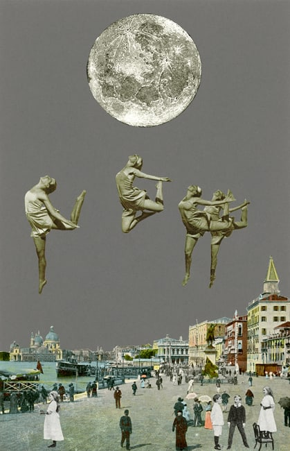 Peter Blake Venice - 'Dancing over Venice', 2009 Silkscreen printed on 400gsm Somerset tub Sized. Signed and numbered by the artist 40.65 x 30.5 cm Edition of 75