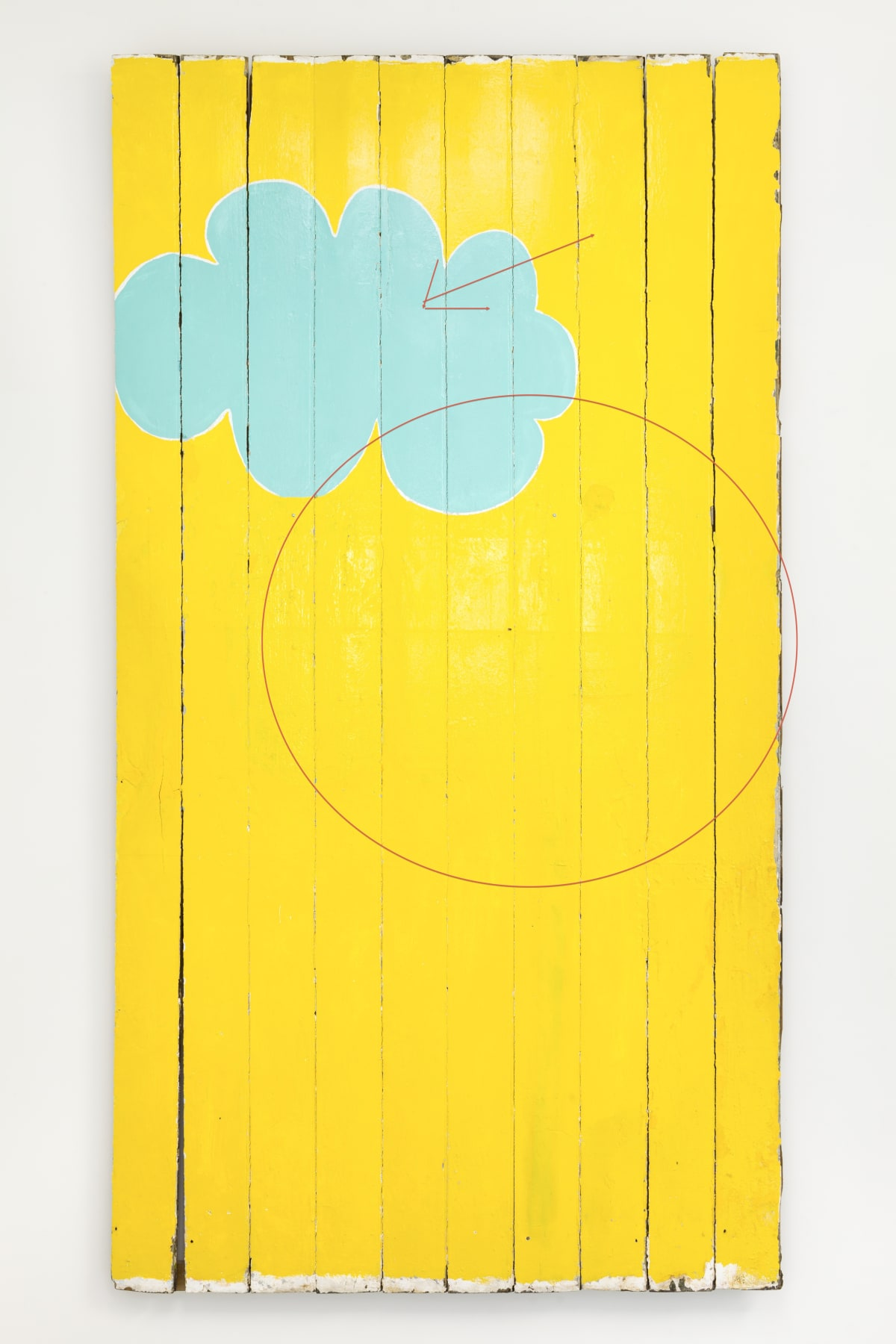 Gary Hume The Cloud of Unknowing, early 1990's household gloss on panels 270 x 145cm