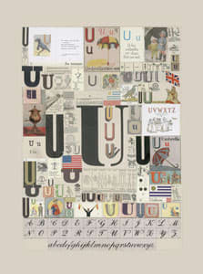 Peter Blake The Letter U, 2007 Silkscreen, embossing and glaze on Somerset satin 300gsm Signed and numbered 52 x 37.5 cm Edition of 60