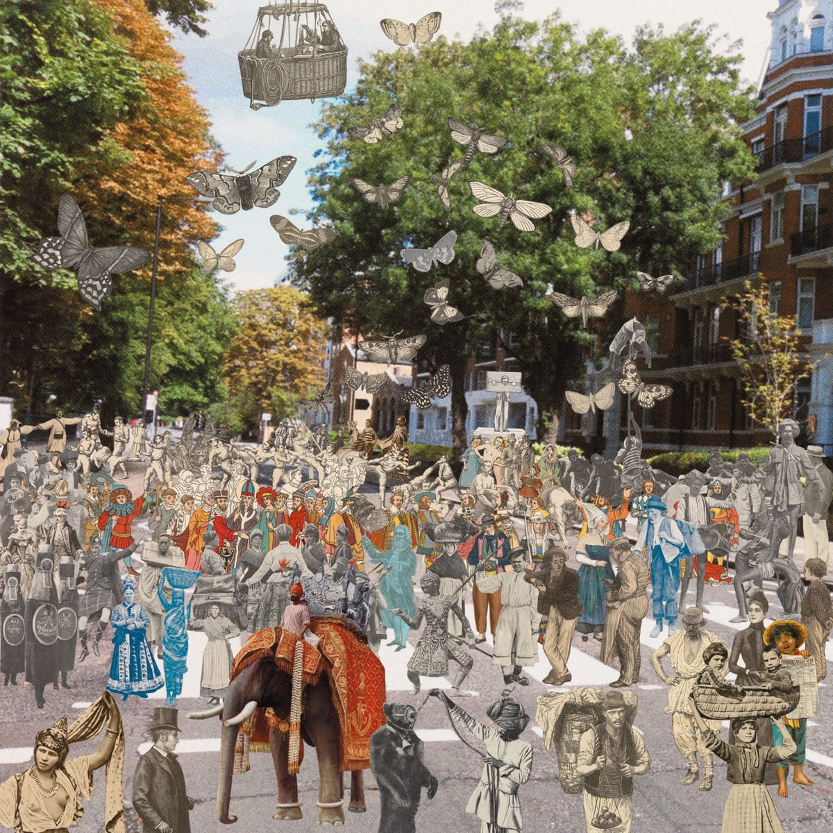 Peter Blake London- Abbey Road Parade, 2012 Silkscreen print on 410gsm Somerset Tub Sized Signed and numbered by artist. 66.6. x 65.2 cm Edition of 100