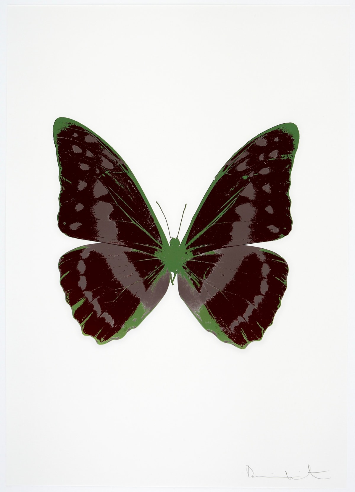 Damien Hirst The Souls III - Burgundy/Gunmetal/Leaf Green, 2010 3 colour foil block on 300gsm Arches 88 archival paper. Signed and numbered. Published by Paul Stolper and Other Criteria 72 x 51cm OC7907 / 660-10 Edition of 15