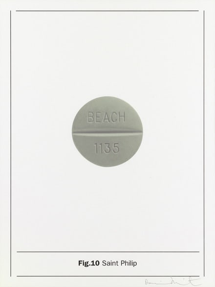 Damien Hirst Fig.10 Saint Philip, 2005 Silkscreen on Somerset satin 410gsm 66.7 x 50cm Edition of 80 Signed and numbered. Published by Paul Stolper and Other Criteria