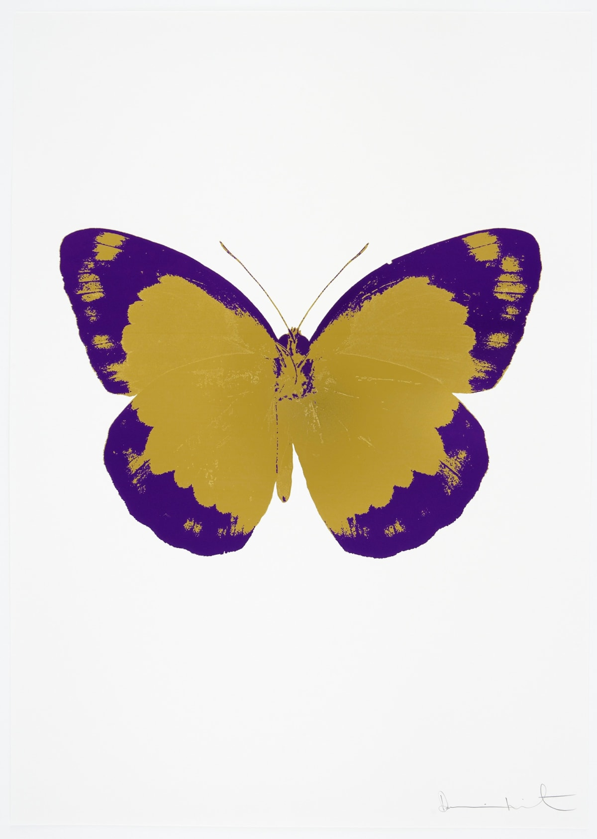 Damien Hirst The Souls II - Oriental Gold/Imperial Purple/Blind Impression, 2010 2 colour foil block on 300gsm Arches 88 archival paper. Signed and numbered. Published by Paul Stolper and Other Criteria 72 x 51cm OC7852 / 658-35 Edition of 15