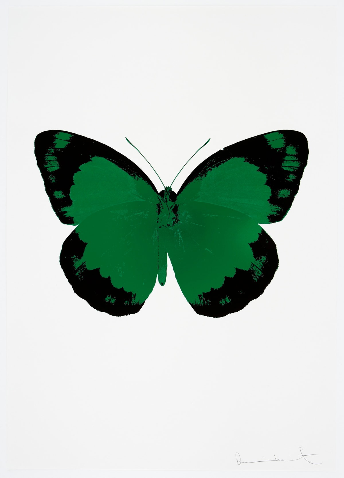 Damien Hirst The Souls II - Emerald Green/Raven Black/Blind Impression, 2010 2 colour foil block on 300gsm Arches 88 archival paper. Signed and numbered. Published by Paul Stolper and Other Criteria 72 x 51cm OC7836 / 658-19 Edition of 15