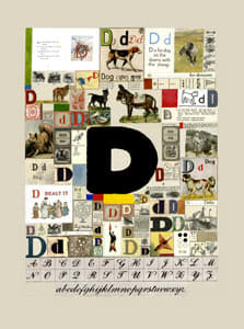 Peter Blake The Letter D, 2007 Silkscreen, embossing and glaze on Somerset satin 300gsm Signed and numbered 52 x 37.5 cm Edition of 60