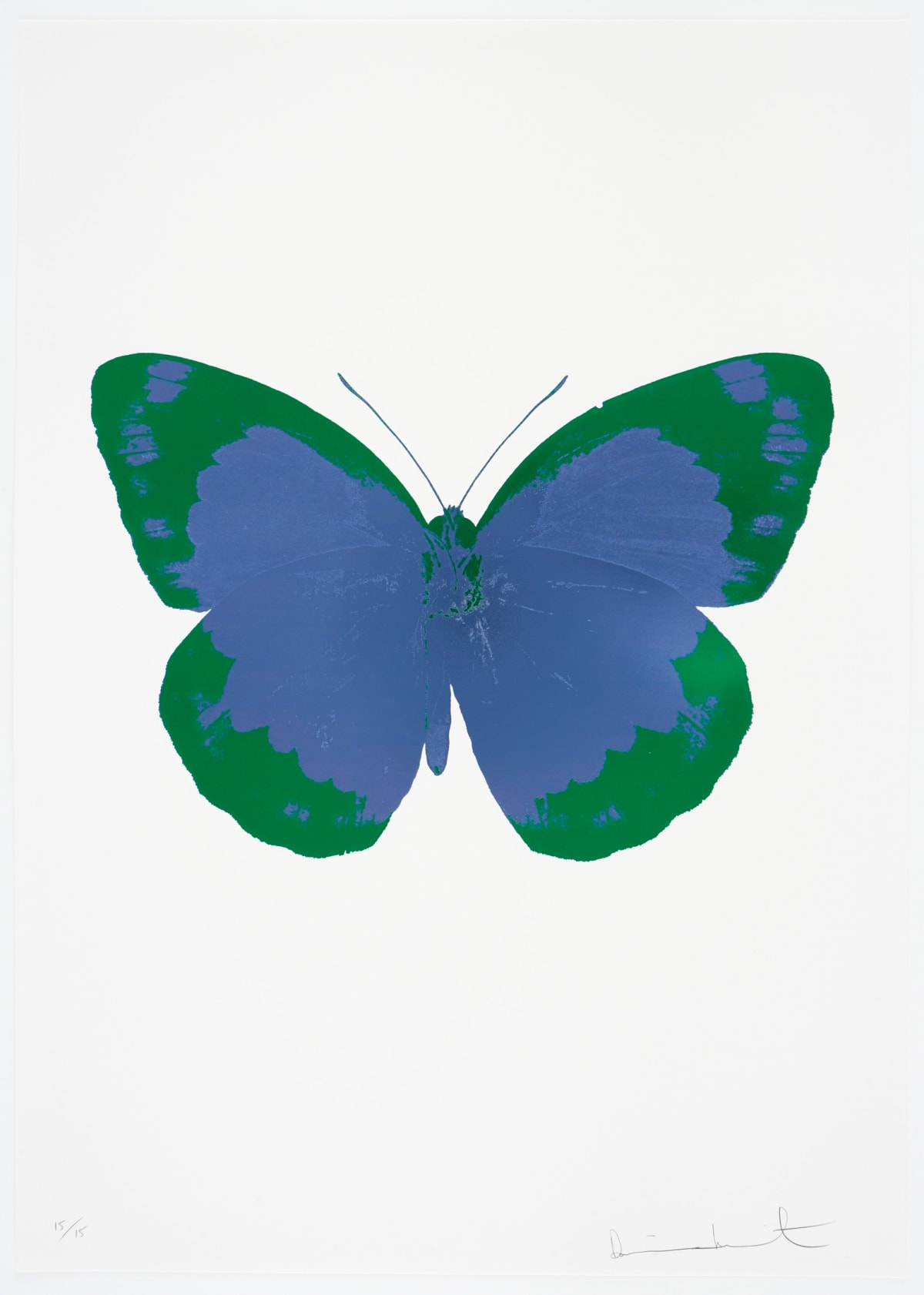 Damien Hirst The Souls II - Frost Blue/Emerald Green/Blind Impression, 2010 2 colour foil block on 300gsm Arches 88 archival paper. Signed and numbered. Published by Paul Stolper and Other Criteria 72 x 51cm OC7844 / 658-27 Edition of 15