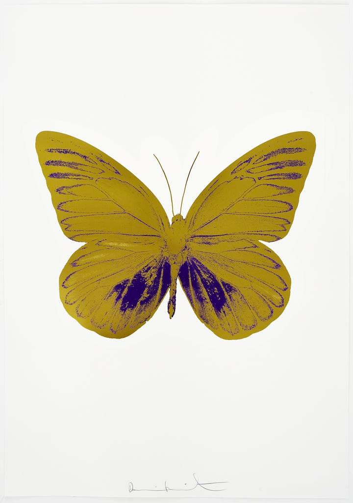 Damien Hirst The Souls I - Oriental Gold/Imperial Purple, 2010 2 colour foil block on 300gsm Arches 88 archival paper. Signed and numbered. Published by Paul Stolper and Other Criteria 72 x 51cm OC7806 / 659-69 Edition of 15