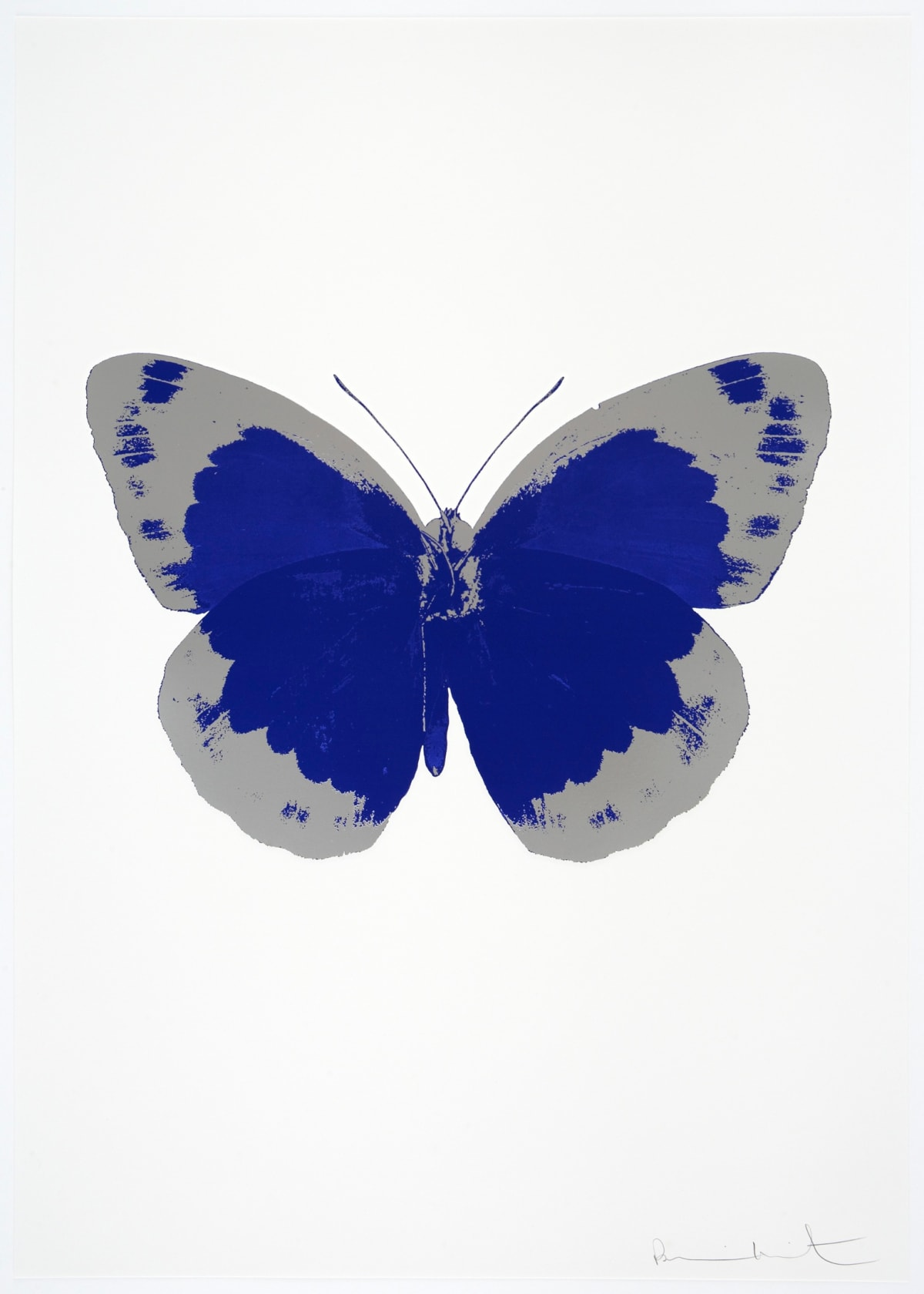 Damien Hirst The Souls II - Westminster Blue/Silver Gloss/Blind Impression, 2010 2 colour foil block on 300gsm Arches 88 archival paper. Signed and numbered. Published by Paul Stolper and Other Criteria 72 x 51cm OC7823 / 658-6 Edition of 15