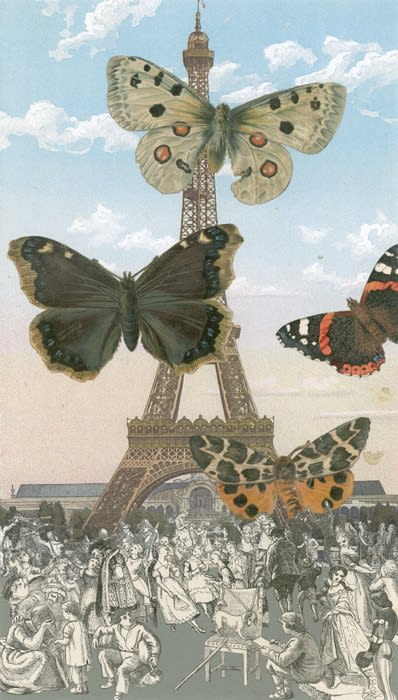 Peter Blake Paris-Butterflies I, 2010 Silkscreen on Somerset tub-size 410 gsm Signed and numbered by the artist. 38 x 21.5 cm Edition of 100