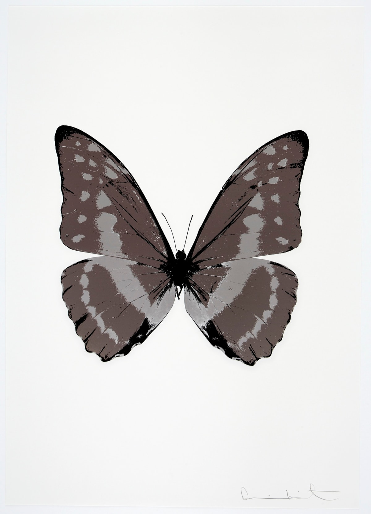 Damien Hirst The Souls III - Gunmetal/Silver Gloss/Raven Black, 2010 3 colour foil block on 300gsm Arches 88 archival paper. Signed and numbered. Published by Paul Stolper and Other Criteria 72 x 51cm OC7959 / 660-62 Edition of 15