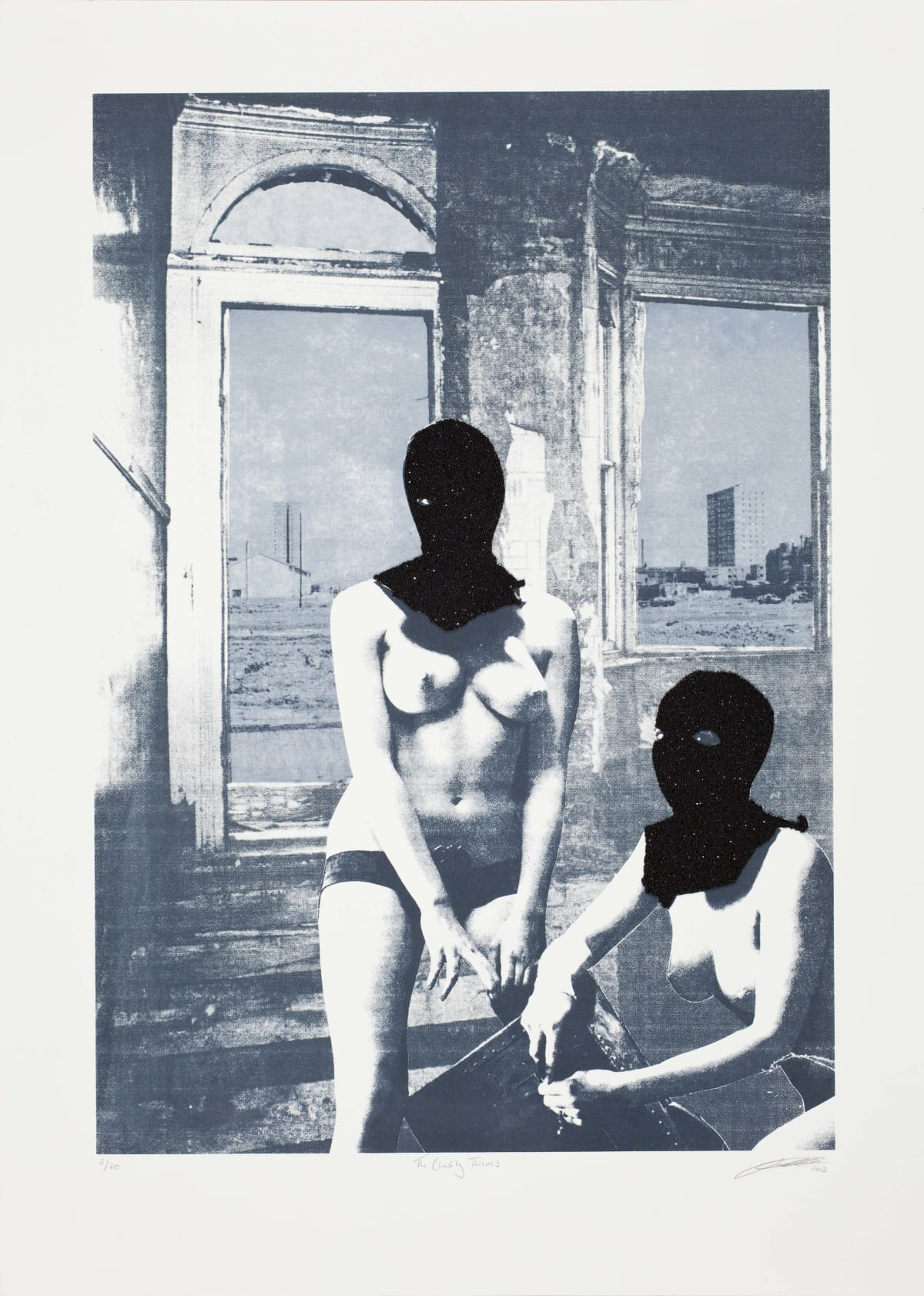 Sarah Hardacre The Chastity Thieves, 2012 Three colour screen print on Canaletto 300gsm Edition of 20