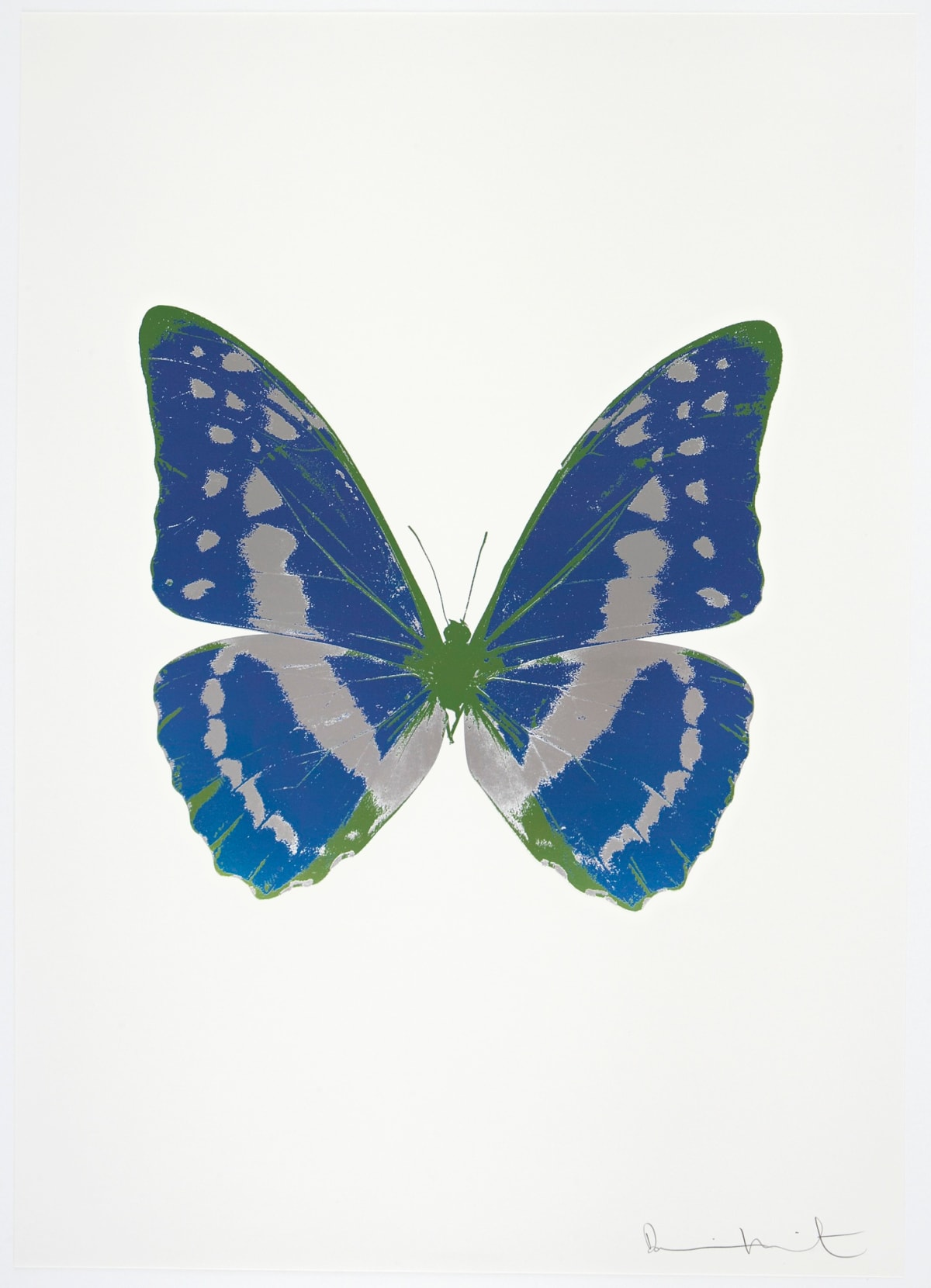 Damien Hirst The Souls III - Frost Blue/Silver Gloss/Leaf Green, 2010 3 colour foil block on 300gsm Arches 88 archival paper. Signed and numbered. Published by Paul Stolper and Other Criteria 72 x 51cm OC7925 / 660-28 Edition of 15
