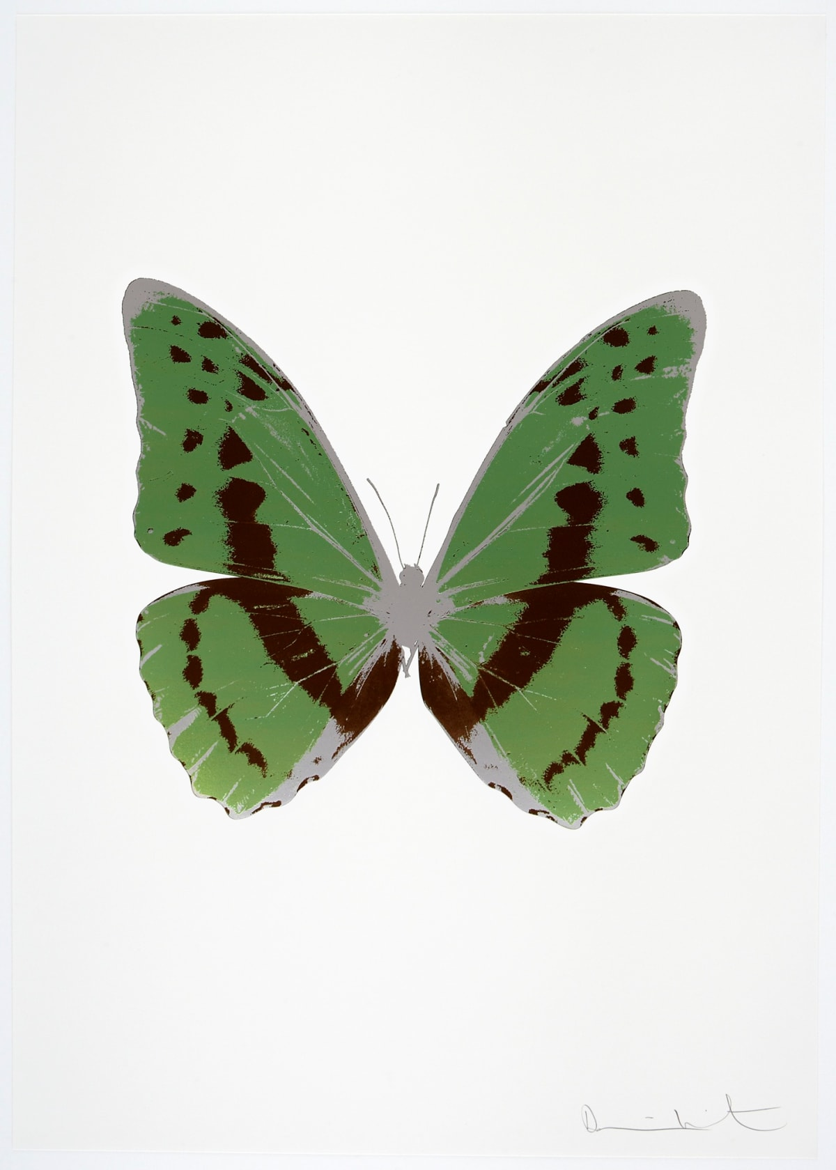 Damien Hirst The Souls III - Leaf Green/Chocolate/Silver Gloss, 2010 3 colour foil block on 300gsm Arches 88 archival paper. Signed and numbered. Published by Paul Stolper and Other Criteria 72 x 51cm OC7947 / 660-50 Edition of 15