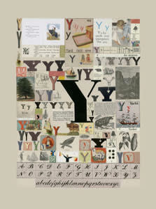 Peter Blake The Letter Y, 2007 Silkscreen, embossing and glaze on Somerset satin 300gsm Signed and numbered 52 x 37.5 cm Edition of 60
