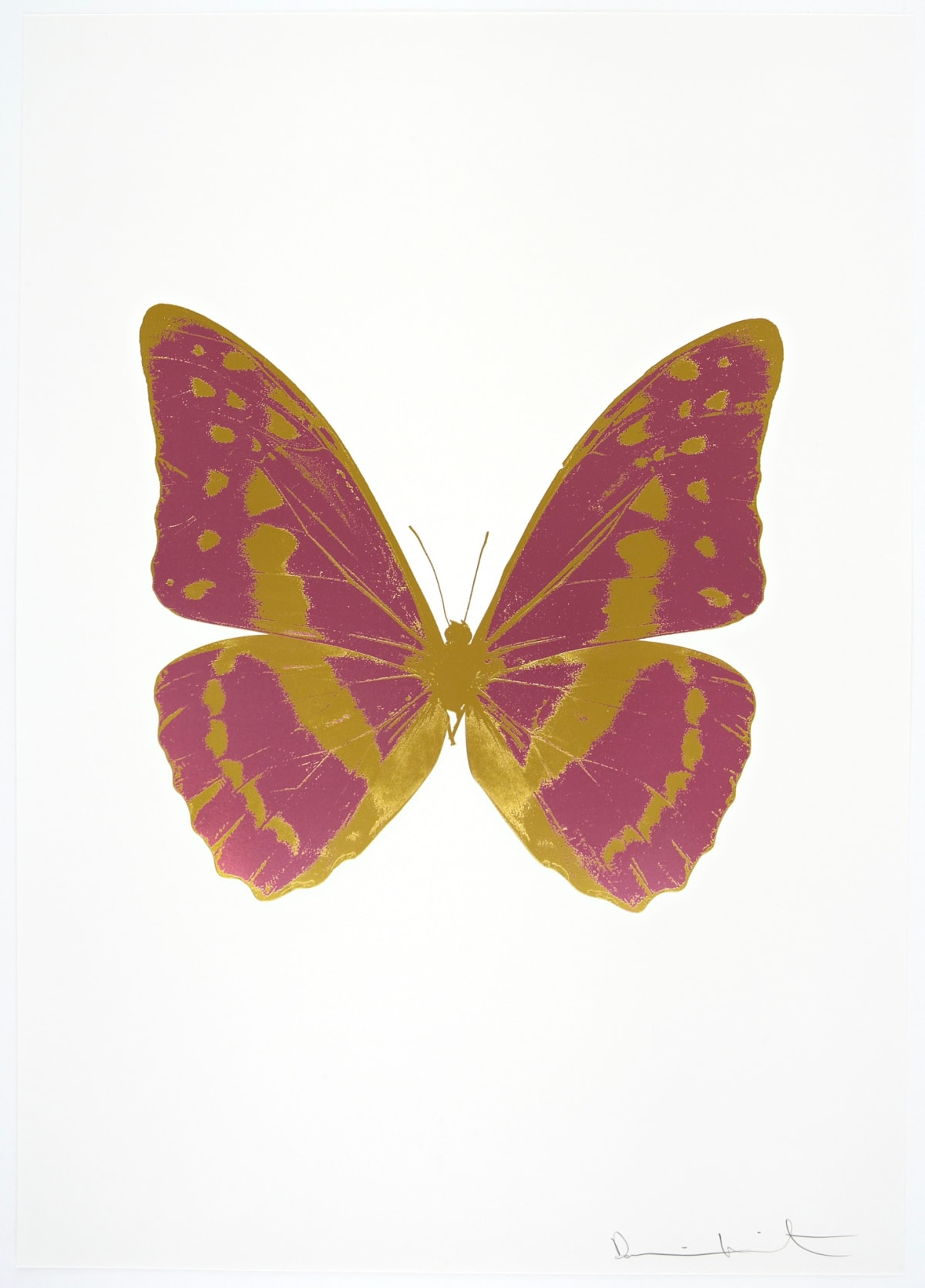 Damien Hirst The Souls III - Loganberry Pink/Oriental Gold/Oriental Gold, 2010 2 colour foil block on 300gsm Arches 88 archival paper. Signed and numbered. Published by Paul Stolper and Other Criteria 72 x 51cm OC7924 / 660-27 Edition of 15