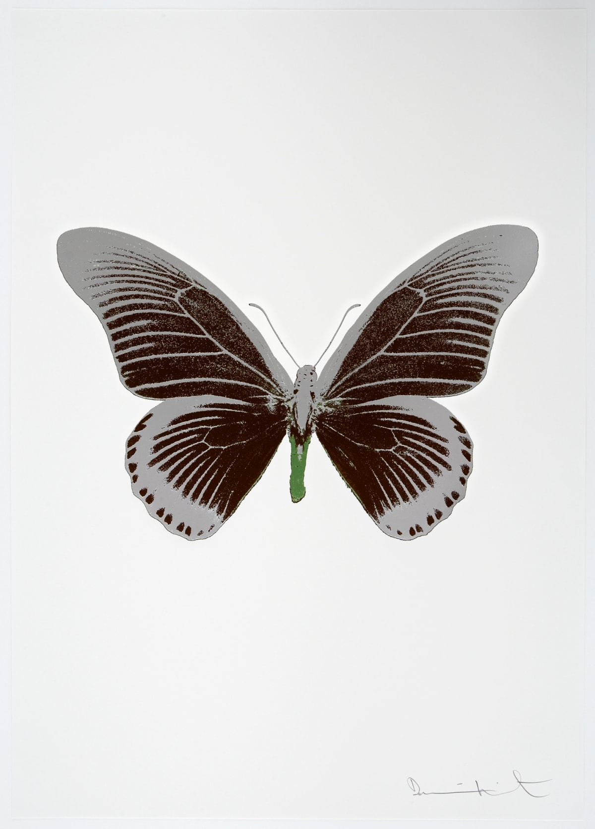 Damien Hirst The Souls IV - Chocolate/Silver Gloss/Leaf Green, 2010 3 colour foil block on 300gsm Arches 88 archival paper. Signed and numbered. Published by Paul Stolper and Other Criteria 72 x 51cm OC8037 / 1418-60 Edition of 15