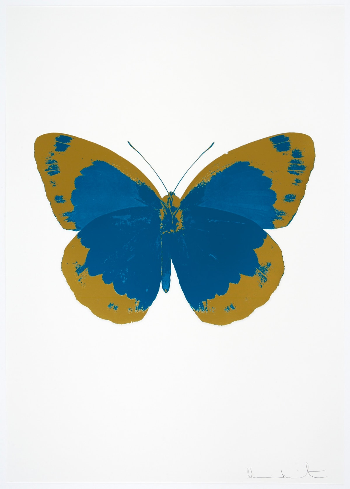 Damien Hirst The Souls II - Turquoise/Oriental Gold/Blind Impression, 2010 2 colour foil block on 300gsm Arches 88 archival paper. Signed and numbered. Published by Paul Stolper and Other Criteria 72 x 51cm OC7822 / 658-5 Edition of 15