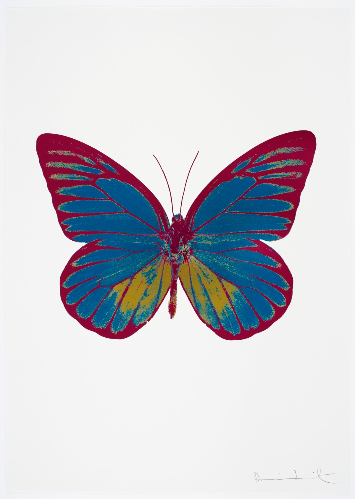 Damien Hirst The Souls I - Turquoise/Oriental Gold/Fuchsia Pink, 2010 3 colour foil block on 300gsm Arches 88 archival paper. Signed and numbered. Published by Paul Stolper and Other Criteria 72 x 51cm OC7742 / 659-5 Edition of 15