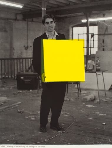 Angus Fairhurst When I woke up in the morning the feeling was still there (yellow), 1992 Screenprint. Signed and numbered on verso 87.5 x 66.3 cm Edition of 45