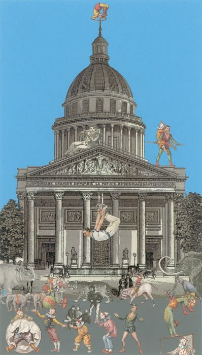 Peter Blake Paris-Circus II, 2010 Silkscreen on Somerset tub-size 410 gsm Signed and numbered by the artist. 38 x 21.5 cm Edition of 100